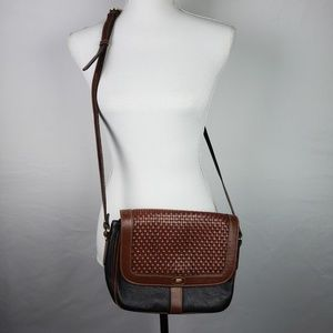 Bally Crossbody Vintage Purse Leather Should Woven